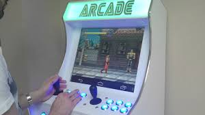 bartop arcade cabinet with an android console pics in