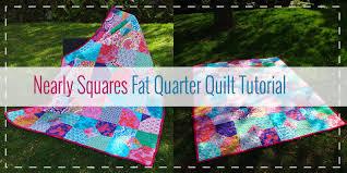 10 Free Fat Quarter Quilt Patterns & Projects & Nearly Squares Quilt. Nearly Squares Fat Quarter Quilt Tutorial Adamdwight.com