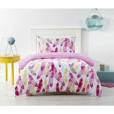 house home kids quilt cover set feathers