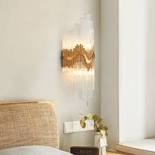 Modern Wall Lights For Living Room Luxurax Modern Gold Wall Sconces Lighting Luxury Polished Steel Glass Wall Lamp Living Room Bedroom