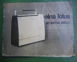 Elna Lotus Sewing Machine Manual