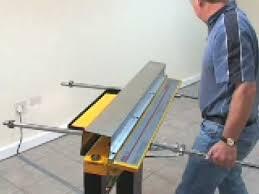sheet metal bender roller. homemade tools vice mounted sheet metal brake or bender roller 5