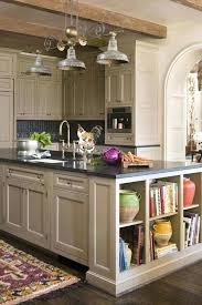 kitchen island shelves open