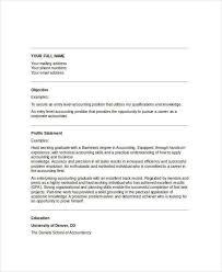 Accountant Cv Sample Free 40 Free Accountant Resume Templates Pdf Doc Free Premium