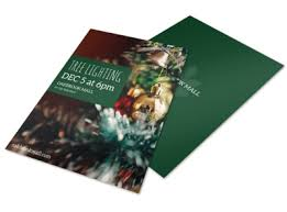 Christmas Program Templates Tree Lighting Flyer Template