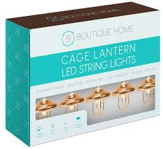 Boutique Home Copper Cage <b>Lantern LED String Lights</b>   Walmart ...