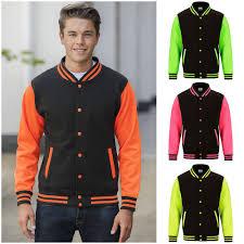 Design Your Own Varsity Jacket Australia Details About Neon Varsity Jacket Letterman University
