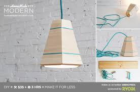 homemade modern diy ep42 wood pendant lamp postcard