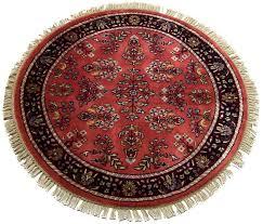 round persian rugs stupefy 3 feet sarouk design rug 12184 interior 7