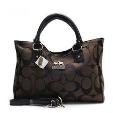 Coach Logo Monogram Hobo Bag In Coffee