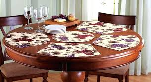round table mats dining silver round table mats