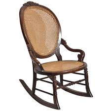 victorian walnut lady s rocking chair for