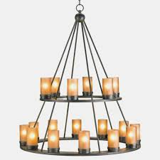 black wrought iron rustic lodge tiered 38 light candle chandelier