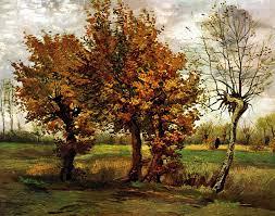 autumn landscape with four trees vincent van gogh