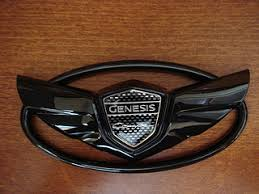 black hyundai genesis logo. the art of speed genesis coupe wing emblem set gloss black hyundai logo
