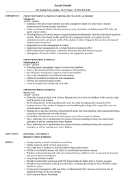 Sample Resume For Investment Banking Analyst Cibinvestment Banking Resume Samples Velvet Jobs 23