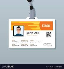Creative Employee Id Card Design Template