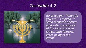 Image result for Zechariah 4: 2