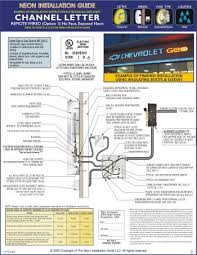 neon installation guide guide to installing neon signs kerley Light Wiring Diagram 2) technical data sheets