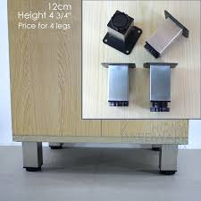 adjustable furniture legs nz. desk: steel desk legs australia 12cm 4 pc stainless square leg cabinet stand kittchen adjustable furniture nz d