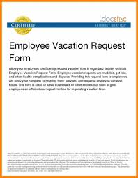 Vacation Job Application Letter Sample Sample Vacation Leave