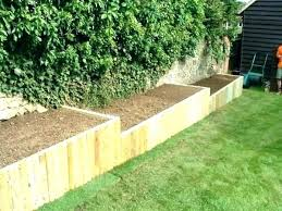 s wood flower bed border ideas wooden borders