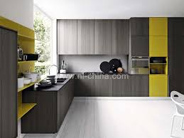 Color Combination Surface High Gloss Lacquer Custom Made Kitchen Cabinets  Organizer (KC 1505)