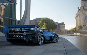 Unveiled in 2015 and currently in the impressive car collection of american businessman hezy shaked, the bugatti vision gran turismo is often referred to as the unicorn of supercars. Wallpaper Bugatti Game Vision Gt Chiron Gran Turismo Sport Images For Desktop Section Igry Download
