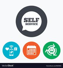 Self Design Sign In Self Service Sign Icon Maintenance Symbol