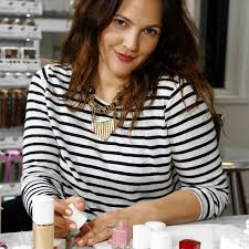drew barrymore at the launch party for her cosmetics line flower beauty