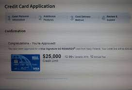 Another benefit of navy federal credit cards is that they usually come as either a visa or mastercard. Navy Fed 25 000 Sl Myfico Forums 5486911