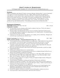 Sample Resume For Quality Assurance Executive Sample Resume For Quality Assurance Executive Valid Qa Manager 2