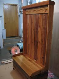 Hall Seat Coat Rack Freestanding Utility Sink With Cabinet With Cool Mustee 100f Entryway 6