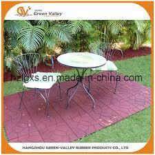 environmental non slip outdoor rubber paver floor tiles for patio