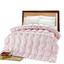 Aliexpress.com : Buy Double Bed Goose Down Comforter Pink White ... & Double Bed Goose Down Comforter Pink White Duck Feather Thick Quilt UK  Super King Size Thick Adamdwight.com