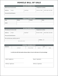 Bill Of Sales Generic Cool Related Post Blank Auto Bill Of Sale Free Car Form Sample Template