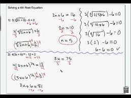 solving radical equations and inequalities wmv you