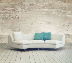cozy living furniture. Stock Photo - White Couch Furniture On Cozy Living Room With Unfinished  Wall Background Design And Wooden Floor. Cozy Living Furniture