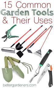 share on social media 15 common garden tools