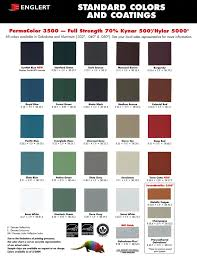 Color Charts From Manufacturers We Use Bensalem Metal