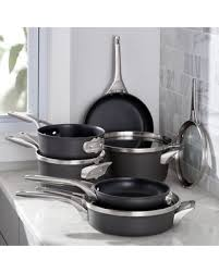 stackable cookware sets. Delighful Cookware Calphalon   Stackable 10Piece Cookware Cookware Sets Throughout F