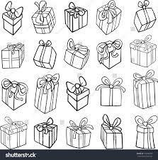 birthday present clip art black and white.  Art Black And White Cartoon Vector Illustration Of Christmas Or Birthday  Presents Gifts Objects Clip Art With Present And G