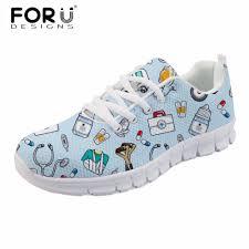 <b>FORUDESIGNS</b> Fashion Women Casual Flats Cute Cartoon <b>Nurse</b> ...