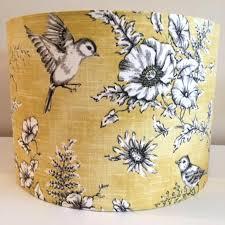 toile lamp shade yellow and grey bird finch lampshade chic shades yellow and grey bird finch lampshade red toile chandelier lamp shades