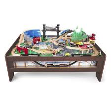 elegant kidkraft metropolis 100 piece wooden train table set unique drawer 50 unique kidkraft train
