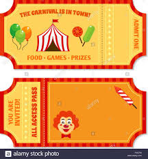tickets template circus tickets template stock vector art illustration