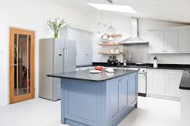 Grey Maple Kitchen Cabinets Blue Kitchen Maple Cabinets Quicuacom