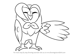 Small Picture How to Draw Dartrix from Pokemon Sun and Moon