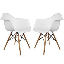 poly and bark eames style molded plastic dowel leg armchair daw natural legs white set of 2