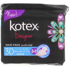 Kotex Designer Pads Buy Kotex Designer Maxi Pads Normal Wings 30s Online